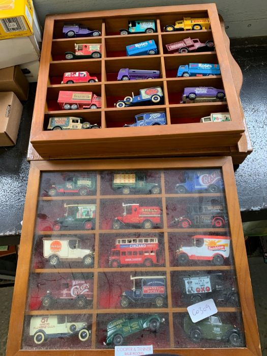Half shelf of 'Days Gone By' toy cars, vans etc - Image 2 of 2