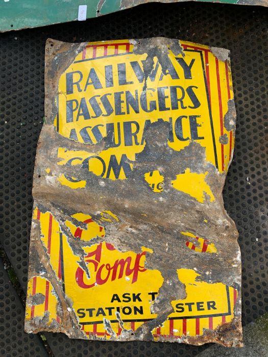 Platform 8 & 9 enamel sign and Railway sign - Image 2 of 4