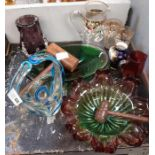 Part shelf of collectable glass
