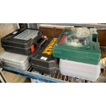 Dewalt electric rotary saw, Bosch router, large Bl