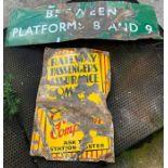 Platform 8 & 9 enamel sign and Railway sign