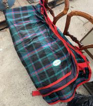 4 bags of horse related items including rugs