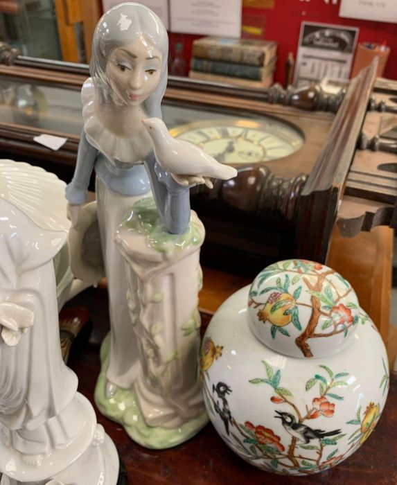 LLadro figure of a girl holding lilies along with - Image 4 of 8
