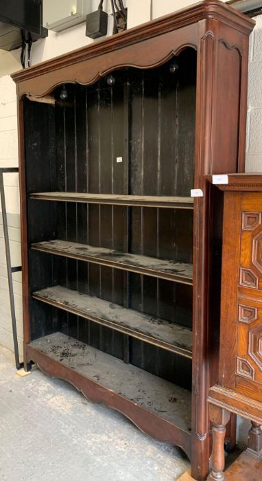 Large 20th century mahogany bookcase with 3 adjust