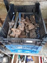3 crates of spanners, wrenches & car parts