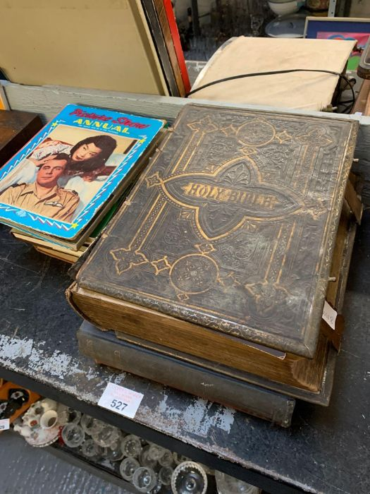 Large late Victorian bible together with other boo - Image 2 of 5