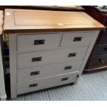 Modern chest of 2 short & 3 long drawers with swin