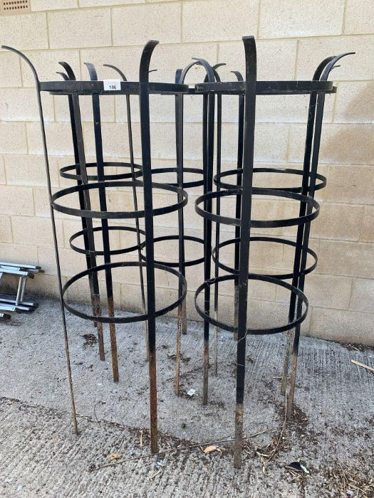 5 black painted deer guards for trees or plants