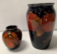 William Moorcroft, a small flambe vase of ovoid fo