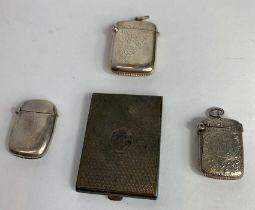 A late Victorian silver vesta case of small size,