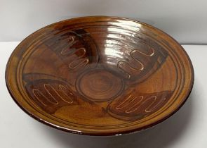 A Nicholas Hillyard pottery bowl, in vari coloured