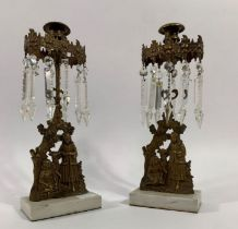 A pair of unusual 20th century lustres, composed o