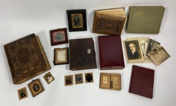 Various Victorian and later photograph albums, man