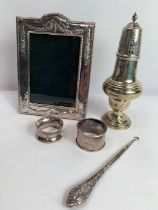 A late Victorian silver sugar caster, makers mark