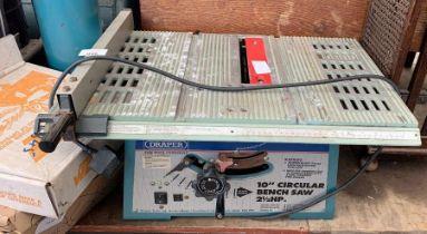 "Draper 10"" circular bench saw - Model BTS 250"