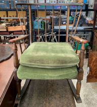 Ercol style rocking chair with stick back