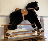 Furry rocking horse