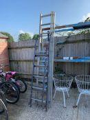 Extending aluminium ladder & step ladder