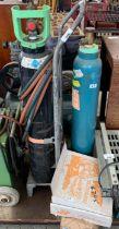 3 acetylene bottles for welding