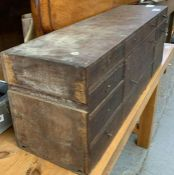 Wooden cabinet containing drill bits, carpentry it