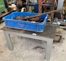 Small metal workshop table