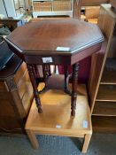Parker Knoll coffeee table along with an octagonal