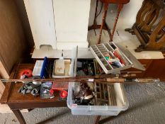 Fishing equipment to include reels, lures, weights