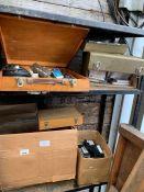 Cassette tapes, picture slides, reels & boxes