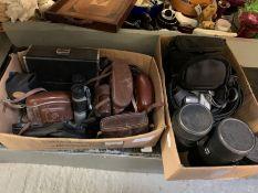 Selection of cameras, camera equipment & binocular