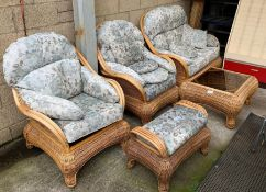 Bamboo conservatory set comprising of 2 seater set