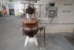 Otto Haensel GMBH copper chocolate melting kettle