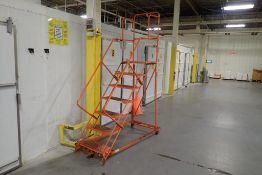 7-step rolling warehouse ladder