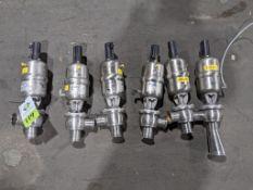 APV SS pneumatic ball valves