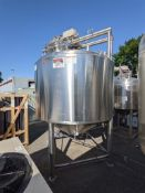 APV 1500 gallon SS Jacketed Tank with top agitation and side sweep
