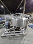 Breddo Likwifier 300 gallon full jacketed round likwifier with top agitation