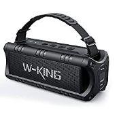 W-KING Bluetooth Speaker, 30W Portable Wireless Speakers Waterproof, 24 Hours Playtime, 5000mAh
