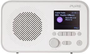 RRP £59.00 PURE COLOUR SCREEN DAB RADIO DOVE GREY