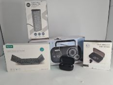 COMBINED RRP £84.00 LOT TO CONTAIN 5 ASSORTED Electronics: LLOYTRON, SLx, Jelly, bakibo, Elecde