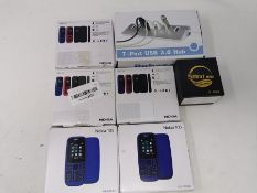 COMBINED RRP £119.00 LOT TO CONTAIN 7 ASSORTED Tech Products: Rybozen, Smart, Nokia, Nokia, Nok
