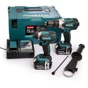RRP £488.00 Makita DLX2145TJ Combi Drill and Impact Driver 1