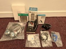 COMBINED RRP £96.00 LOT TO CONTAIN 10 ASSORTED Electronics: NGS, SLx, 3M, Skullcandy, JVC, Phil