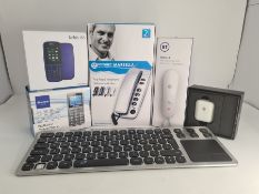 COMBINED RRP £88.00 LOT TO CONTAIN 6 ASSORTED Tech Products: Arteck, Geemarc, Nokia, PISEN, BT,