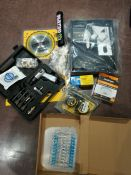COMBINED RRP £118.00 LOT TO CONTAIN 11 ASSORTED Home Improvement: Dewalt, Plumb-Pak, Tacwise, F