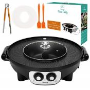 RRP £76.00 Food Party Electric Grill and Hot Pot (Grill & H