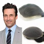 RRP £158.00 N.L.W. Mens toupee hair replacement System human