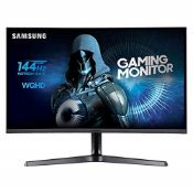 "RRP £273.00 Samsung LC27JG50QQUXEN 27"" Curved Gaming Monitor (BROKEN SCREEN)"