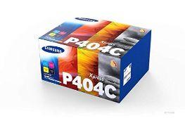 RRP £135.00 Samsung SU365A CLT-P404C Toner Cartridges, Black/Cyan/Magenta/Yellow , Pack of 4