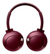 Philips On-Ear Headphones SHB3075RD/00 (BASS+, Wireless, Bluetooth, Microphone, 12-Hou