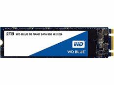 RRP £190.00 WD Blue 2 TB 3D NAND Internal SSD M.2 SATA