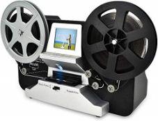 RRP £337.00 8mm & Super 8 Reels to Digital MovieMaker Film Scanner, Pro Film Digitizer Machine wit